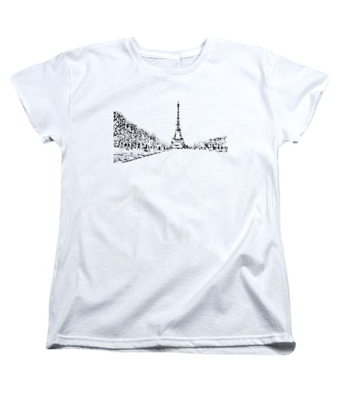 Eiffel Tower Women's T-Shirt (Standard Cut) by ISAW Gallery
