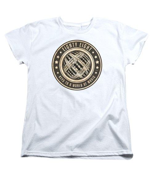 Eighty Eight Keys Women's T-Shirt (Standard Cut) by Phil Perkins
