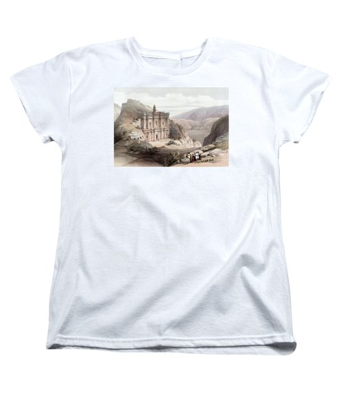 El Deir Petra 1839 Women's T-Shirt (Standard Cut) by Munir Alawi