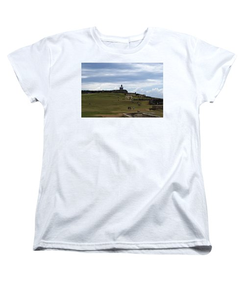 Women's T-Shirt (Standard Cut) featuring the photograph El Morro by Lois Lepisto