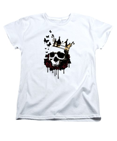 Women's T-Shirt (Standard Cut) featuring the digital art El Rey De La Muerte by Nicklas Gustafsson