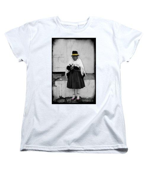 Elderly Beggar In Biblian Women's T-Shirt (Standard Cut) by Al Bourassa