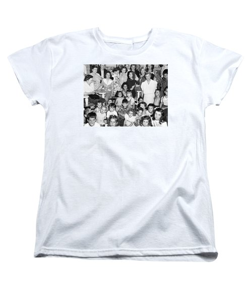 Eleanor Roosevelt And Children Women's T-Shirt (Standard Cut) by Underwood Archives