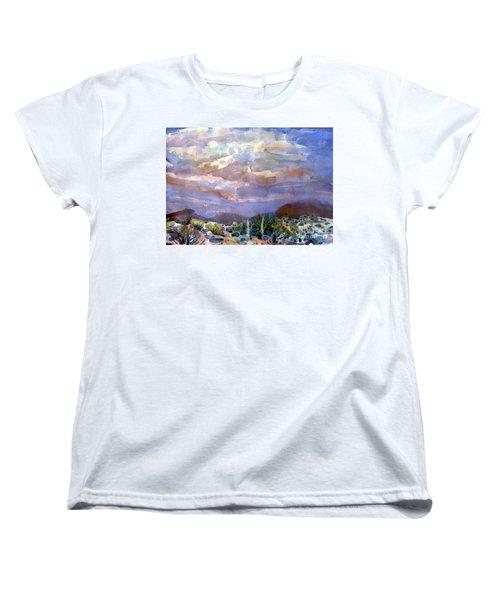 Electric Sunset Women's T-Shirt (Standard Cut) by Donald Maier