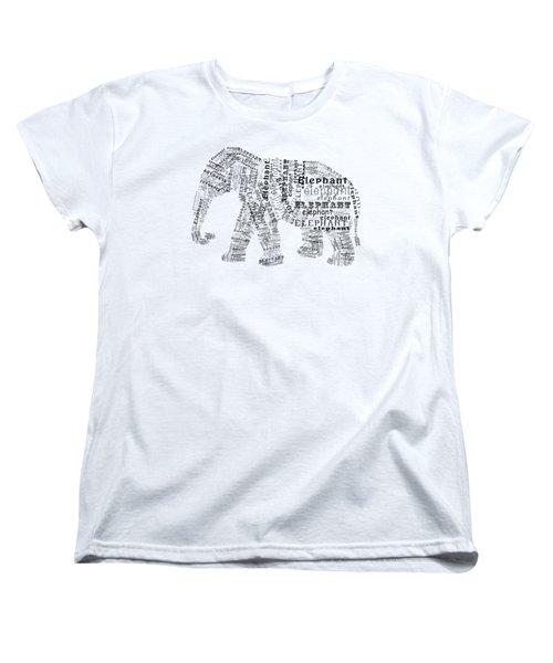 Elefont Noir Women's T-Shirt (Standard Cut) by Heather Applegate