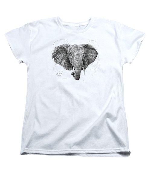 Elephant Women's T-Shirt (Standard Cut) by Michael Volpicelli