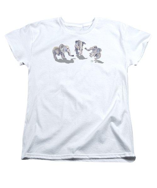 Elephants Women's T-Shirt (Standard Cut) by Angeles M Pomata
