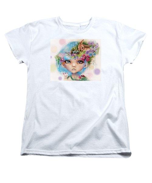 Women's T-Shirt (Standard Cut) featuring the drawing Eliza - Easter Elf - Munhkinz Character by Sheena Pike