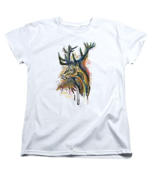 Elk Head Women's T-Shirt (Standard Fit)