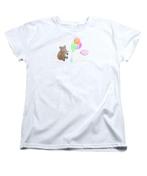Ellie And Balloons Women's T-Shirt (Standard Cut)