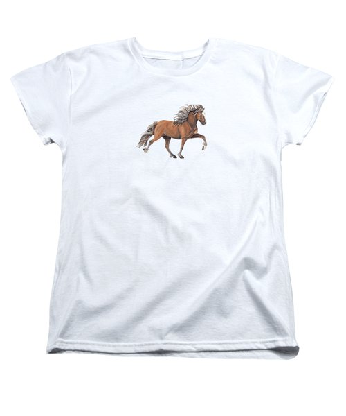 Women's T-Shirt (Standard Cut) featuring the painting Elska by Shari Nees
