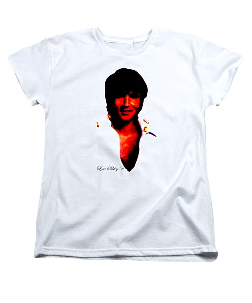 Women's T-Shirt (Standard Cut) featuring the mixed media Elvis By Loxi Sibley by Loxi Sibley