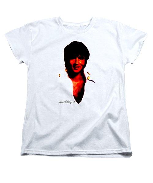 Elvis By Loxi Sibley Women's T-Shirt (Standard Cut) by Loxi Sibley
