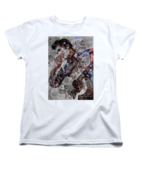 Elvis Presley Collage Women's T-Shirt (Standard Cut) by Gull G