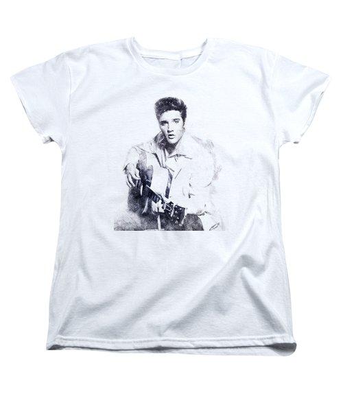 Elvis Presley Portrait 01 Women's T-Shirt (Standard Cut) by Pablo Romero