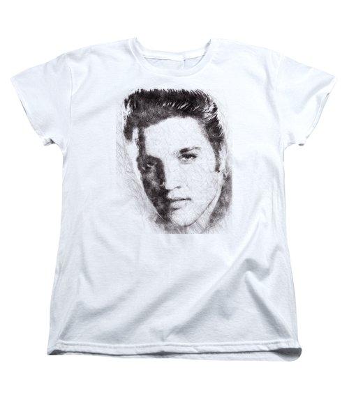 Elvis Presley Portrait 02 Women's T-Shirt (Standard Cut) by Pablo Romero