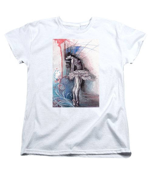 Emotional Ballet Dance Women's T-Shirt (Standard Cut) by Alban Dizdari