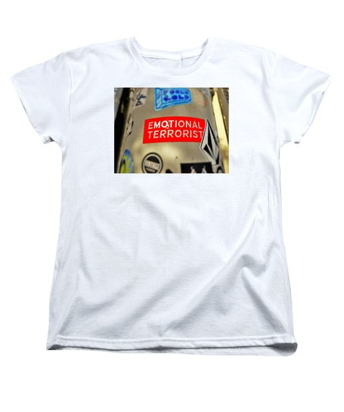 Emotional Terrorist In New York  Women's T-Shirt (Standard Cut) by Funkpix Photo Hunter