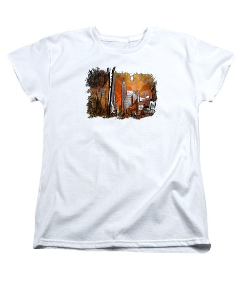 Empire State Reflections Earthy Rainbow 3 Dimensional Women's T-Shirt (Standard Cut) by Di Designs