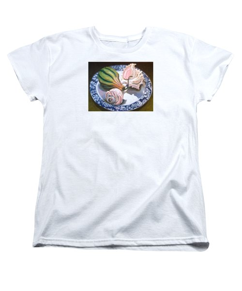 Women's T-Shirt (Standard Cut) featuring the painting End Of Summer by Laura Aceto