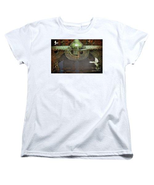 Engine Room Fractal Women's T-Shirt (Standard Cut) by Melissa Messick