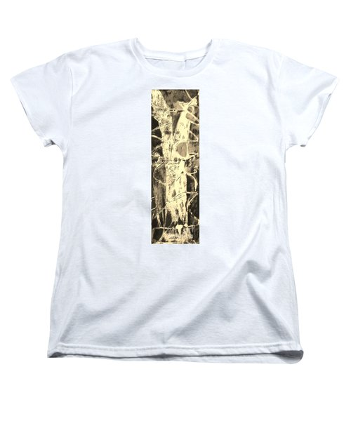 Women's T-Shirt (Standard Cut) featuring the painting  Equity by Carol Rashawnna Williams