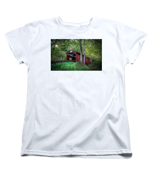 Women's T-Shirt (Standard Cut) featuring the photograph Esther Furnace Bridge by Marvin Spates