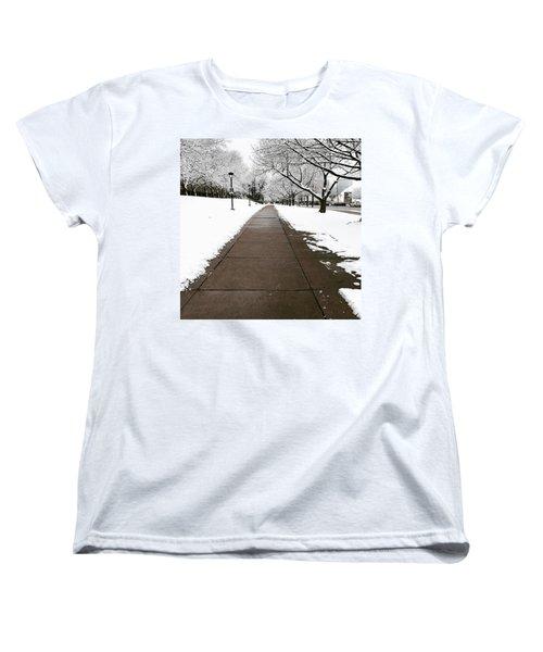Winter Walks  Women's T-Shirt (Standard Cut) by Cyrionna The Cyerial Artist