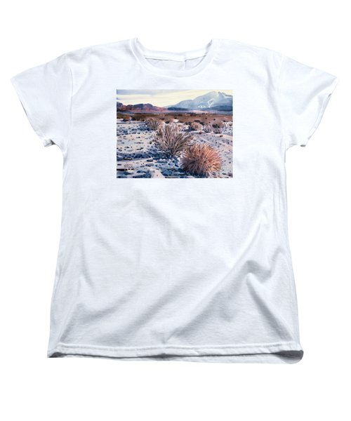 Evening In Death Valley Women's T-Shirt (Standard Cut) by Donald Maier
