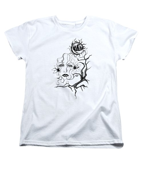 Women's T-Shirt (Standard Cut) featuring the drawing Eye Of The Beholder by Shawna Rowe