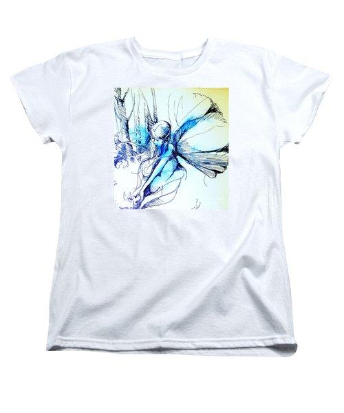 Fairy Doodles Women's T-Shirt (Standard Cut) by Linda Shackelford
