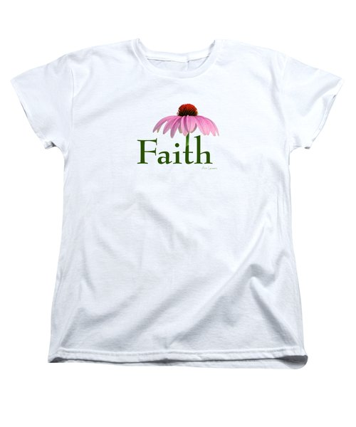 Women's T-Shirt (Standard Cut) featuring the digital art Faith Coneflower Shirt by Ann Lauwers