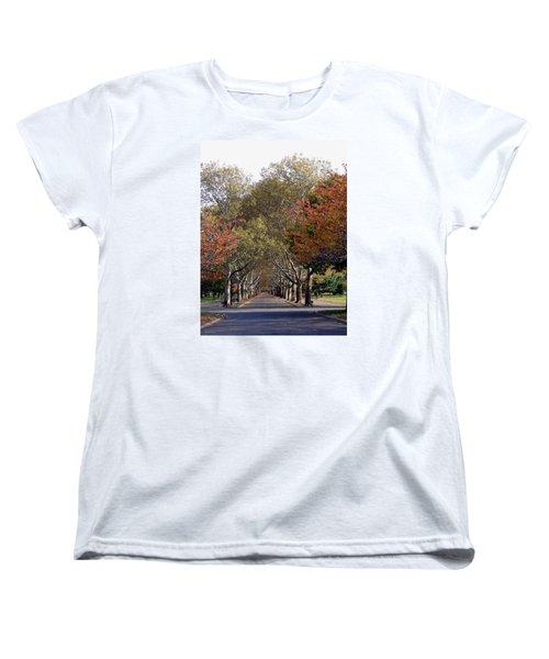 Fall At Corona Park Women's T-Shirt (Standard Cut) by Suhas Tavkar