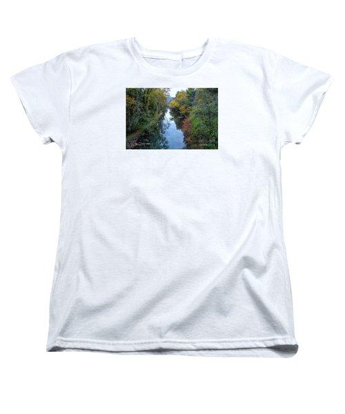 Women's T-Shirt (Standard Cut) featuring the photograph Fall Colors Along The Tallulah River by Barbara Bowen