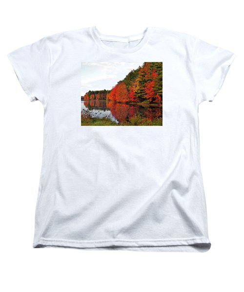 Fall Colors In Madbury Nh Women's T-Shirt (Standard Cut) by Nancy Landry