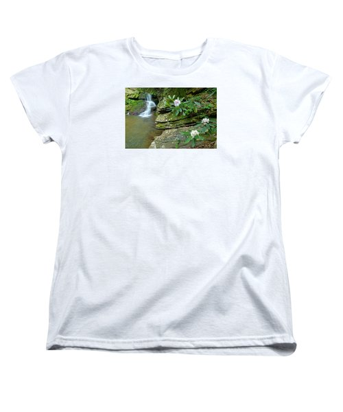 Falls On Catawba Creek Women's T-Shirt (Standard Cut) by Alan Lenk