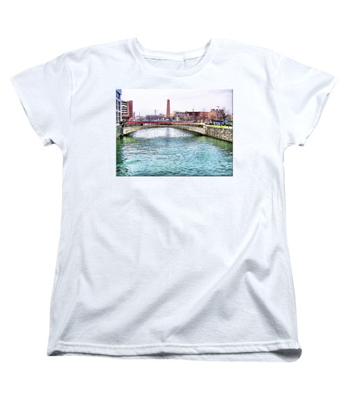 Women's T-Shirt (Standard Cut) featuring the photograph Fallswalk And Shot Tower by Brian Wallace