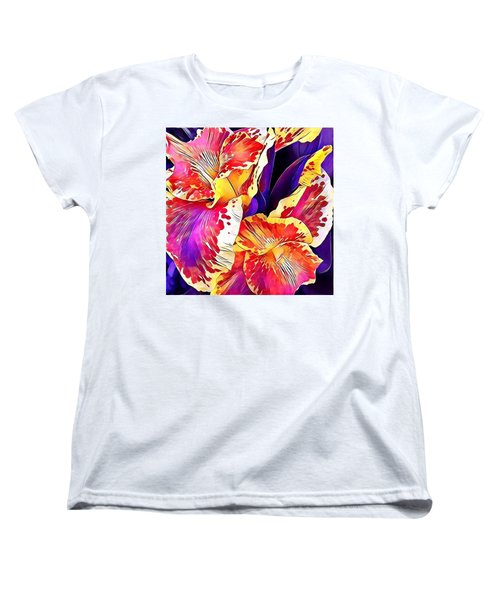 Women's T-Shirt (Standard Cut) featuring the photograph Fanciful Canna  by Heidi Smith