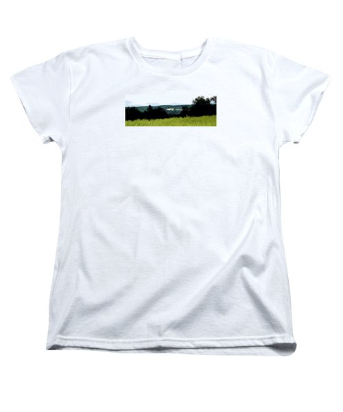 Women's T-Shirt (Standard Cut) featuring the photograph Farm In The Valley by Spyder Webb