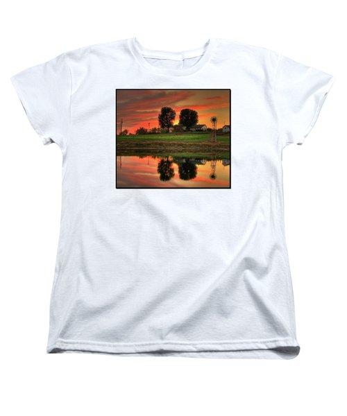 Farm Sunset Women's T-Shirt (Standard Cut) by Farol Tomson