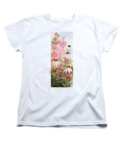Farmhouse Garden Women's T-Shirt (Standard Cut) by Laurie Rohner