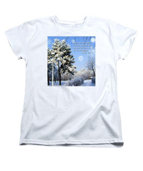 Fear Not Women's T-Shirt (Standard Cut) by Judi Saunders
