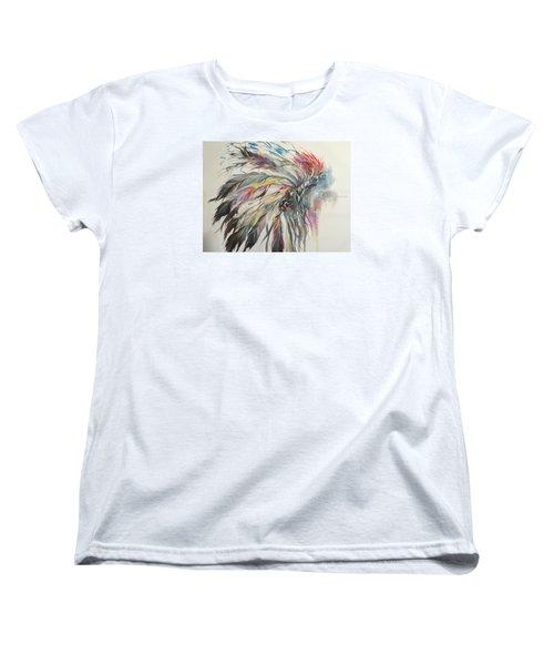 Feather Hawk Women's T-Shirt (Standard Cut) by Heather Roddy