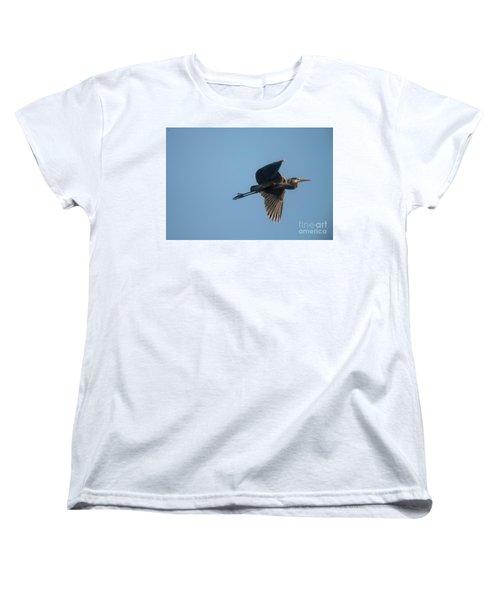 Women's T-Shirt (Standard Cut) featuring the photograph Feathering The Nest by David Bearden