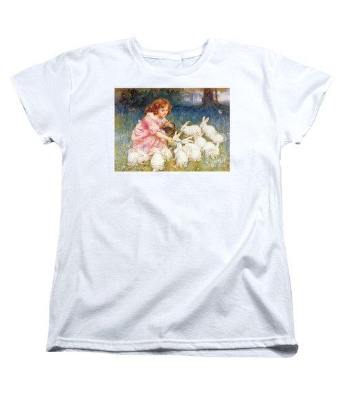 Feeding The Rabbits Women's T-Shirt (Standard Cut) by Frederick Morgan