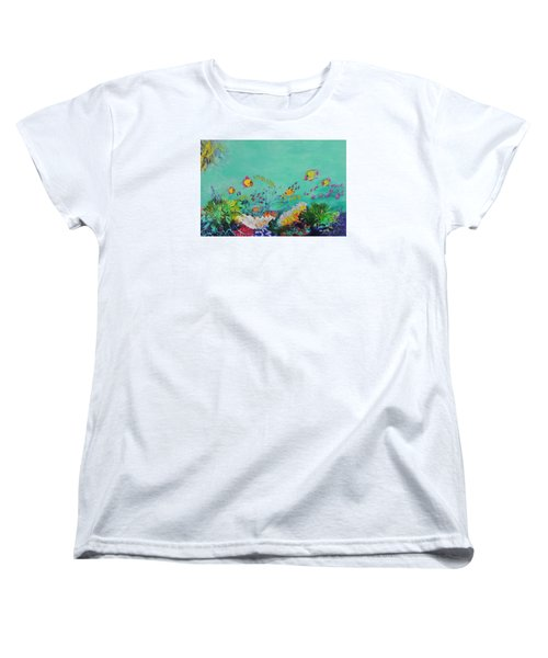 Women's T-Shirt (Standard Cut) featuring the painting Feeding Time by Lyn Olsen