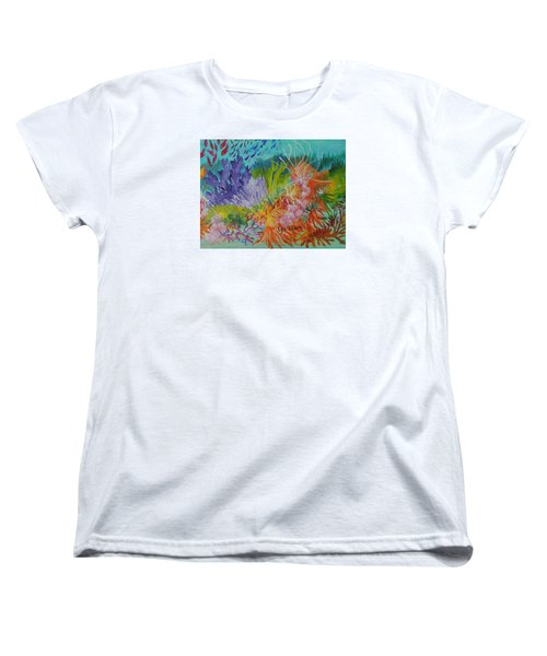 Women's T-Shirt (Standard Cut) featuring the painting Feeding Time On The Reef #3 by Lyn Olsen