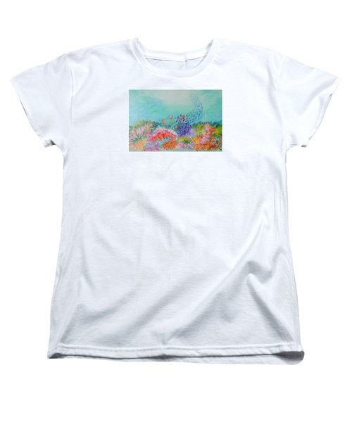 Women's T-Shirt (Standard Cut) featuring the painting Feeding Time On The Reef by Lyn Olsen