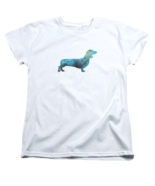 Female Dachsund In Watercolor Women's T-Shirt (Standard Cut) by Pablo Romero
