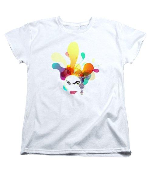 Female Face Abstract Women's T-Shirt (Standard Cut)